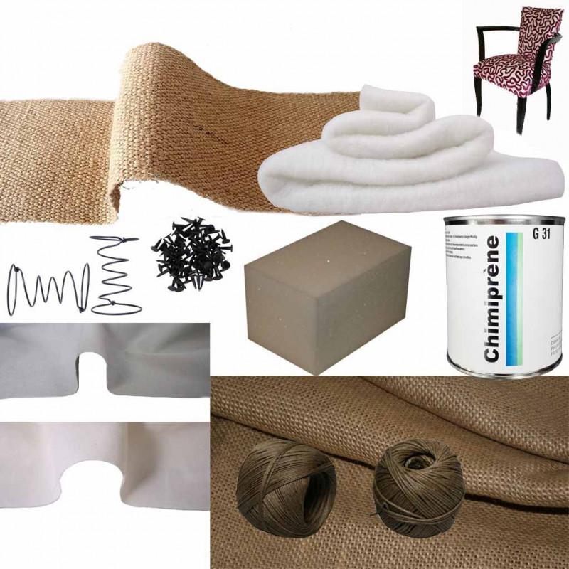 Kit Fauteuil Bridge Mousse Ressort Confort Souple/Ferme - Fournitures tapissier