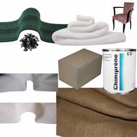 Kit Fauteuil Bridge Mousse Souple/Ferme - Fournitures tapissier