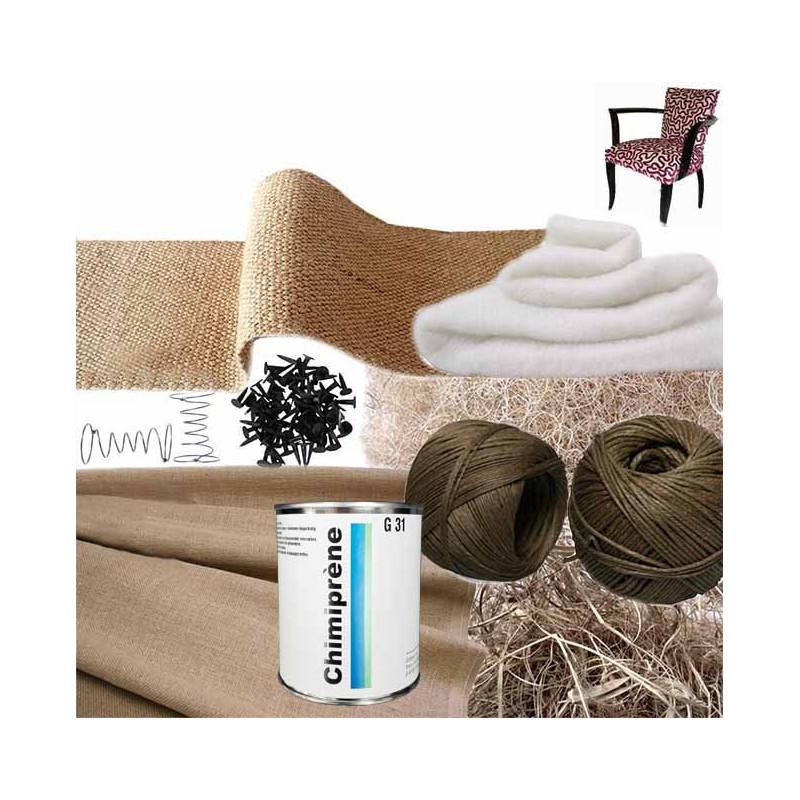Kit Fauteuil Bridge 1/2 traditionnel avec ressorts - Fournitures tapissier