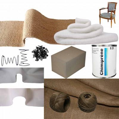 Kit Fauteuil Directoire Mousse Ressort Confort Souple/Ferme - Fournitures tapissier