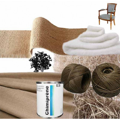 Kit Fauteuil Directoire 1/2 traditionnel sans ressorts - Fournitures tapissier