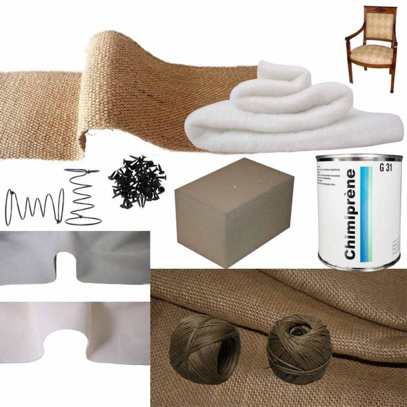 Kit Fauteuil Empire Mousse Ressort Confort Souple/Ferme - Fournitures tapissier