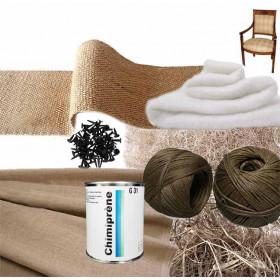 Kit Fauteuil Empire 1/2 traditionnel sans ressorts - Fournitures tapissier
