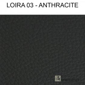 Simili Cuir Froca - Loira 03 Anthracite au mètre