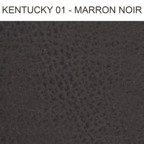 Simili Cuir Froca - Kentuchy 01 Marron Noir, au mètre