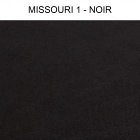 Simili Cuir Froca - Missouri 01 Noir au mètre à 29,90 €