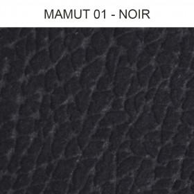 Simili Cuir Froca - Mamut 01 Noir, au mètre