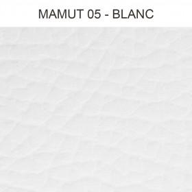 Simili Cuir Froca - Mamut 05 Blanc, au mètre