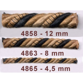 Corde Samarkand 4,5 mm le mètre - Passementerie