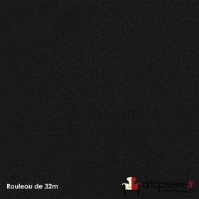 Tissu Crocvyl2 Non Feu M1 460/m2 Noir, les 32 mètres - Tissus ameublement