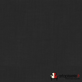 Voilage Polyester Etamine Noir Non Feu M1 au mètre - Tissus ameublement