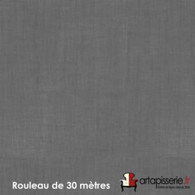 Voilage Polyester Etamine Anthracite, Rouleau de 30m - Tissus ameublement