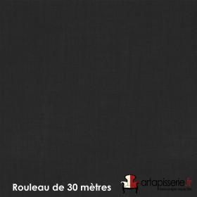 Voilage Polyester Etamine Noir, Rouleau de 30m - Tissus ameublement