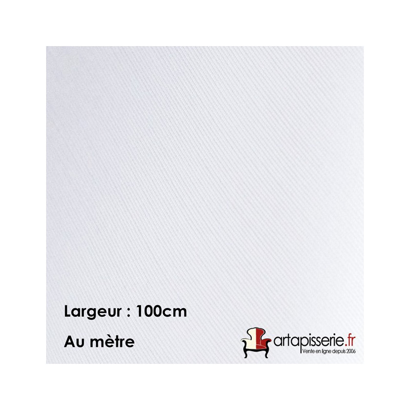 Voilage Polyester M140EC Blanc 100cm, le mètre - Tissus ameublement