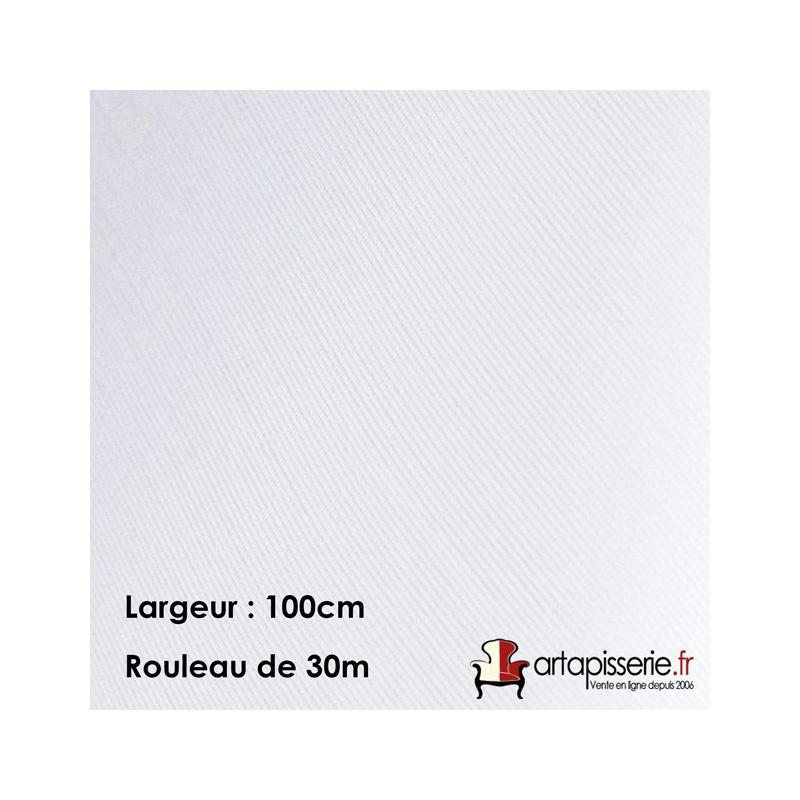 Voilage Polyester M140EC Blanc 100cm, les 30 mètres - Tissus ameublement