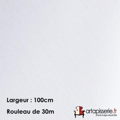 Voilage Polyester M140EC Blanc 100cm, les 30 mètres