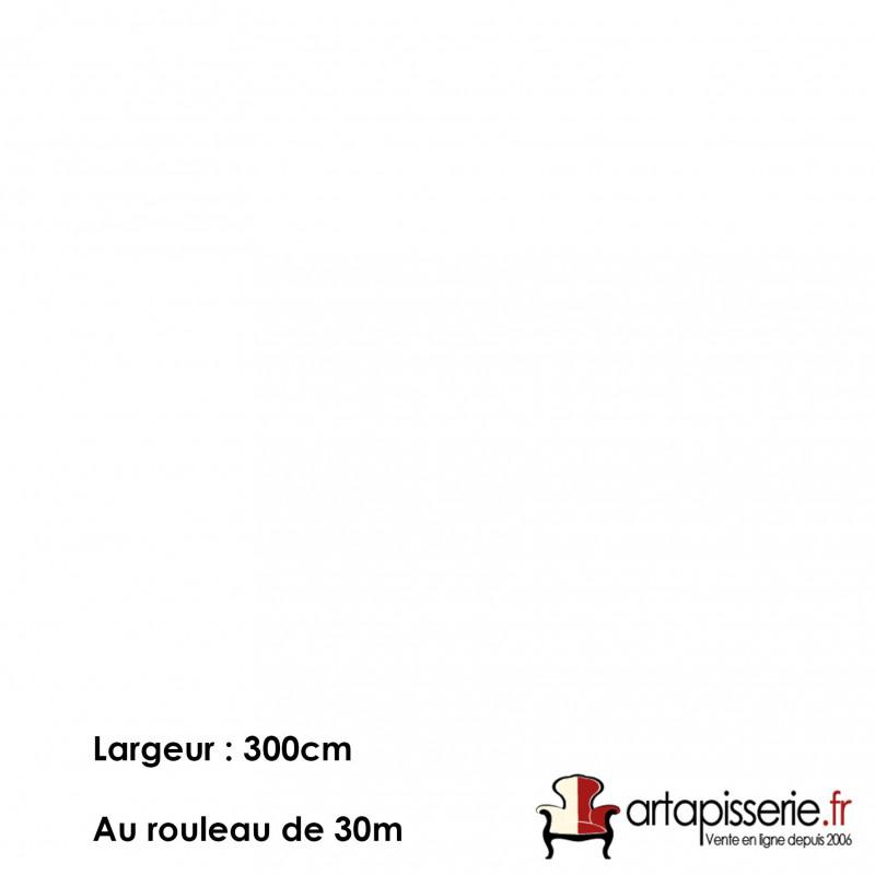 Voilage Polyester Non Feu Orga Uni Blanc, les 30 mètres - Tissus ameublement