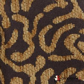 Tissus Froca - Broni 04 Marron / Marron clair, Au mètre - Tissus ameublement