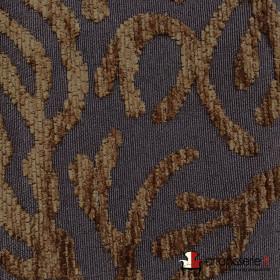 Tissus Froca - Broni 05 Marron/Chocolat, Au mètre - Tissus ameublement