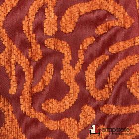 Tissus Froca - Broni 08 Rouge/Orange, Au mètre - Tissus ameublement