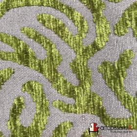 Tissus Froca - Broni 10 Gris/Vert, Au mètre - Tissus ameublement