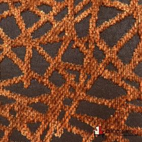 Tissus Froca - Gabanna 02 Marron/noir - Tissus ameublement