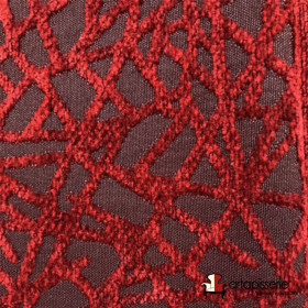 Tissus Froca - Gabanna 03 Rouge/noir - Tissus ameublement