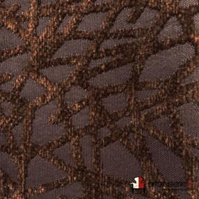 Tissus Froca - Gabanna 04 Brun/noir - Tissus ameublement