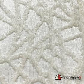 Tissus Froca - Gabanna 10 - Blanc/blanc - Tissus ameublement
