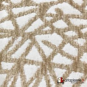 Tissus Froca - Gabanna 11 Taupe/blanc - Tissus ameublement