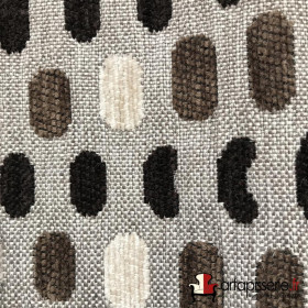 Tissus Froca - Bassano 02 Taupe et marrons - Tissus ameublement