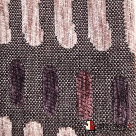 Tissus Froca - Bassano 05 Gris et rose/violet