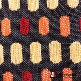 Tissus Froca - Bassano 07 Gris et rouge/orange - Tissus ameublement
