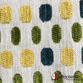 Tissus Froca - Bassano 08 Beige et vert/bleu/jaune - Tissus ameublement