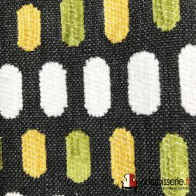 Tissus Froca - Bassano 09 Gris et vert/jaune
