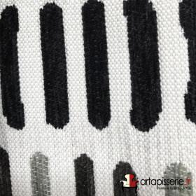 Tissus Froca - Bassano 12 Blanc et noir/gris