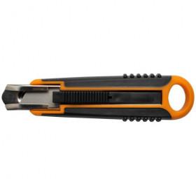 Cutter de sécurité Fiskars 18 mm - Lame trapézoïdale 1393C - Mercerie