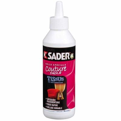 Colle pour tissus déco et passementerie SADER, 250 ml