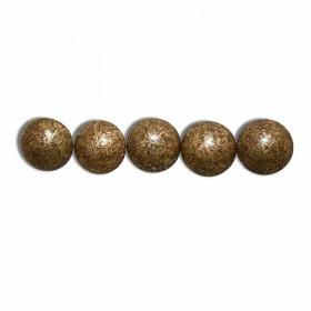 Clous Perle Fer Bronze Doré 10,5mm