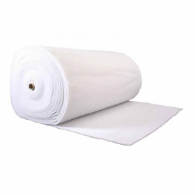 Ouate polyester 200 g/m2 - 15mm Largeur 160cm Oeko Tex rouleau 30m - Fournitures tapissier