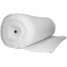 Ouate polyester 400 g/m2 - 25mm Largeur 160cm Oeko Tex rouleau 20m - Fournitures tapissier