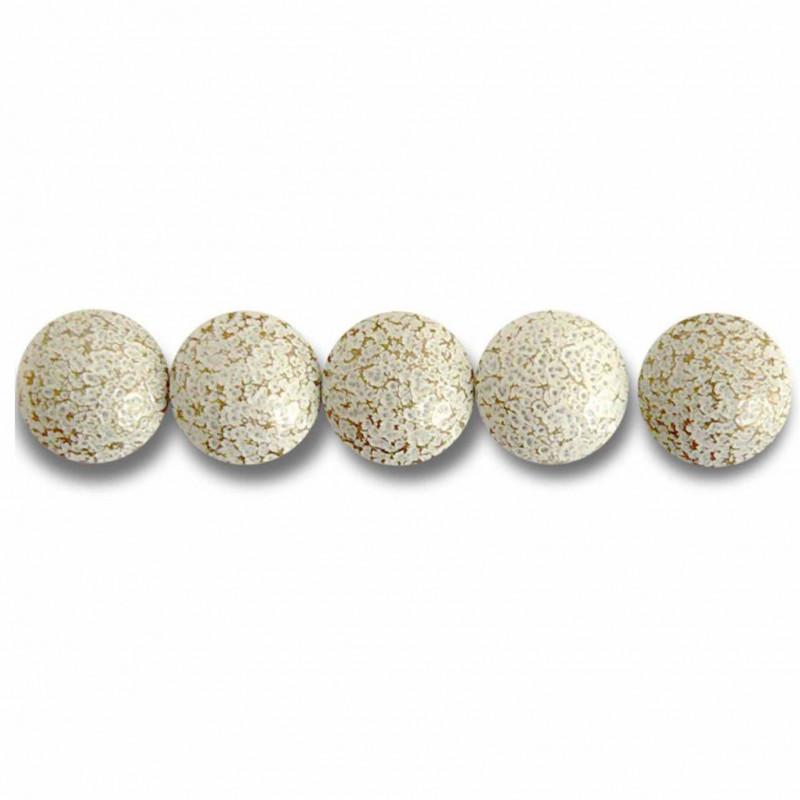 Clous Prestige Perle Fer Blanc Crépi 11mm