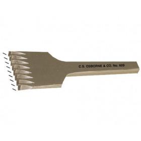 Griffe à frapper Cuir espacement 4,2 mm 8 dents Osborne n°609 - Outils tapissier