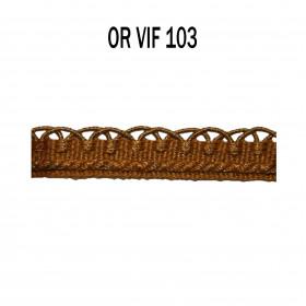 Crête d'Annecy - 12mm - Or vif 103 - Passementerie