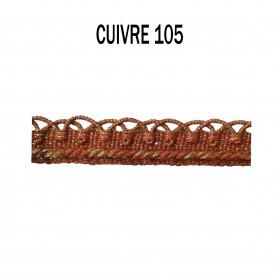 Crête d'Annecy - 12mm - Cuivre 105 - Passementerie