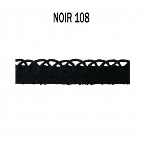 Crête d'Annecy - 12mm - Noir 108 - Passementerie