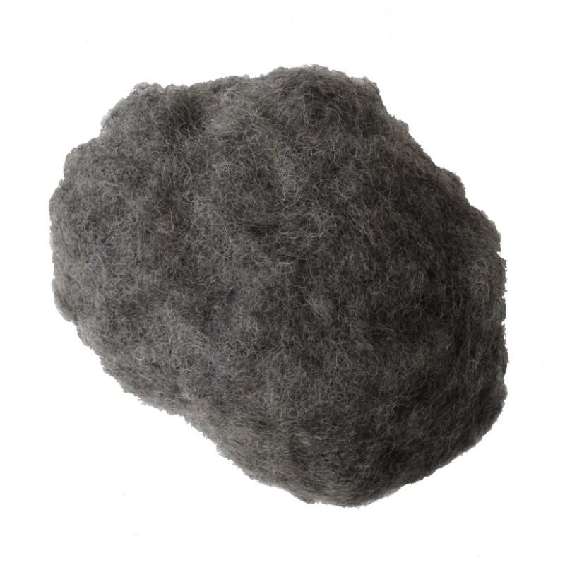 Crin animal cardé gris les 500 g - Fournitures tapissier