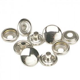 Boutons à pression 12,7mm en Laiton plaqué nickelé x 100 - Outils cuir