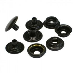Boutons à pression 12,7mm en Laiton Noir Cuivré x 100 - Outils cuir