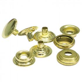 Boutons à pression 12,7mm en Laiton Doré x 100 - Outils cuir